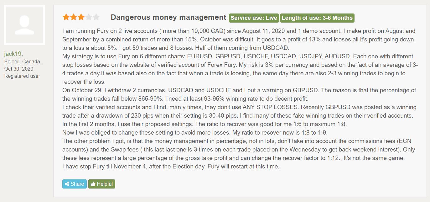 Forex Fury customer reviews