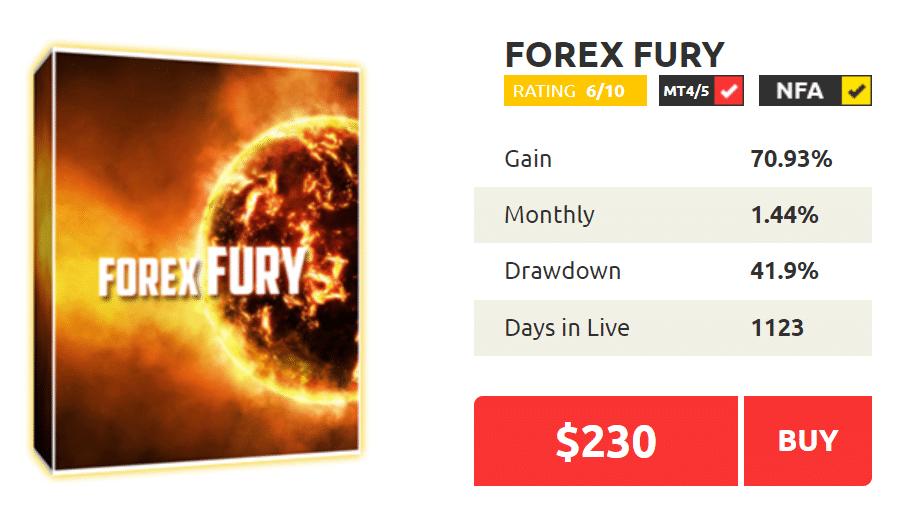 Forex Fury price