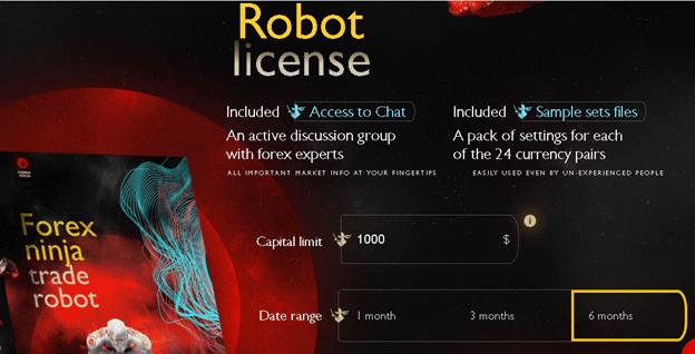 Forex Ninja robot license