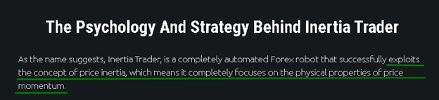 Inertia Trader Trading Strategy