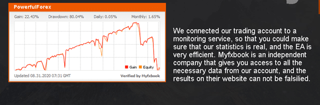 PowerfulForex Trading Performance Data