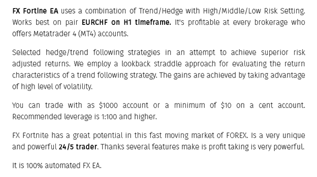 FX Fortnite EA Hedge/Trend Strategy