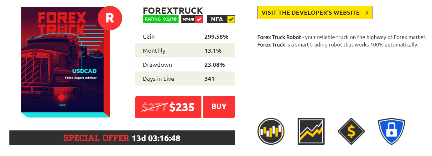 Forex Truck Features