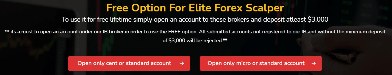 Elite Forex Scalper free option