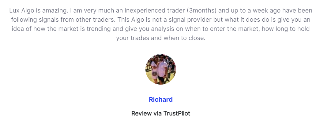 Lux Algo Vendor Transparency