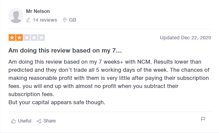 NCM Signals customer reviews