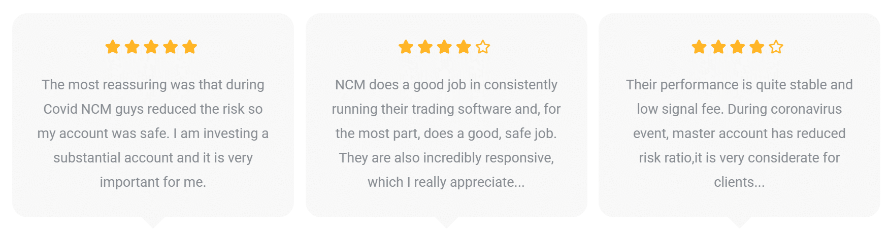 NCM Signals People feedback