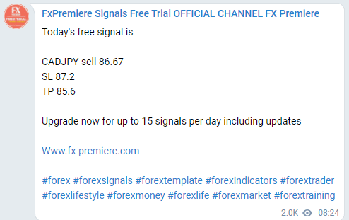 FX Premiere. Unverified Trading Results