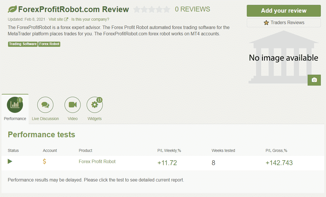 Forex Profit Robot People feedback