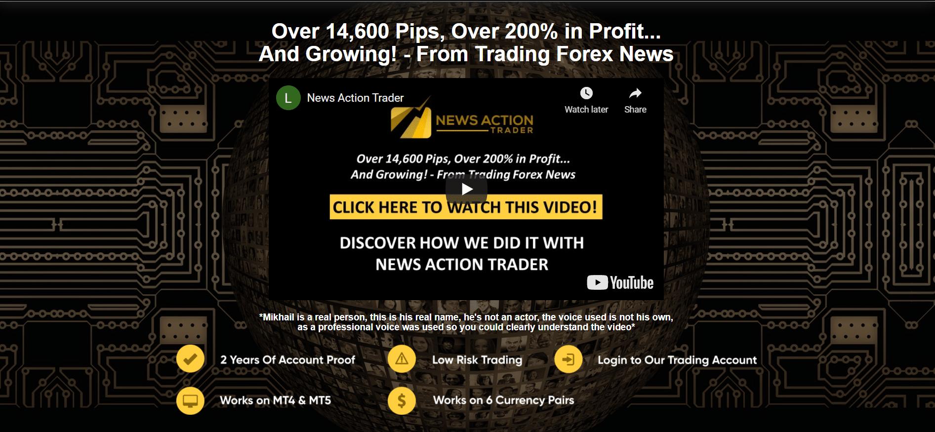 News Action Trader presentation
