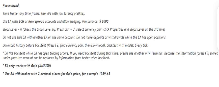 Lucky Gold Scalper Features