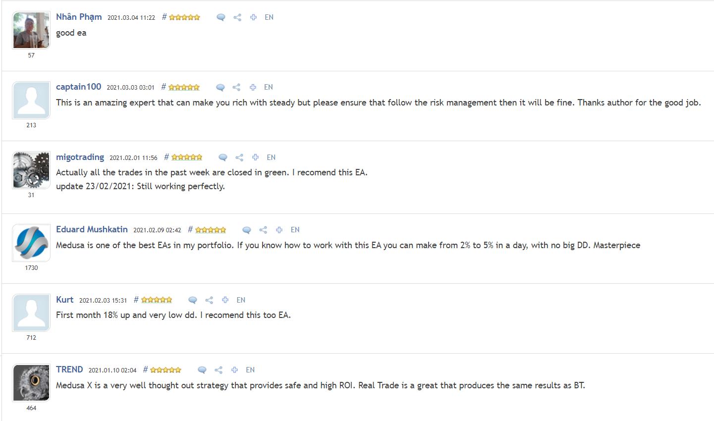 Medusa X People feedback
