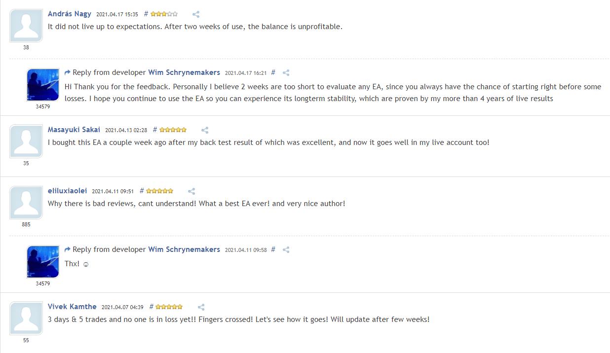 Advanced Scalper People feedback