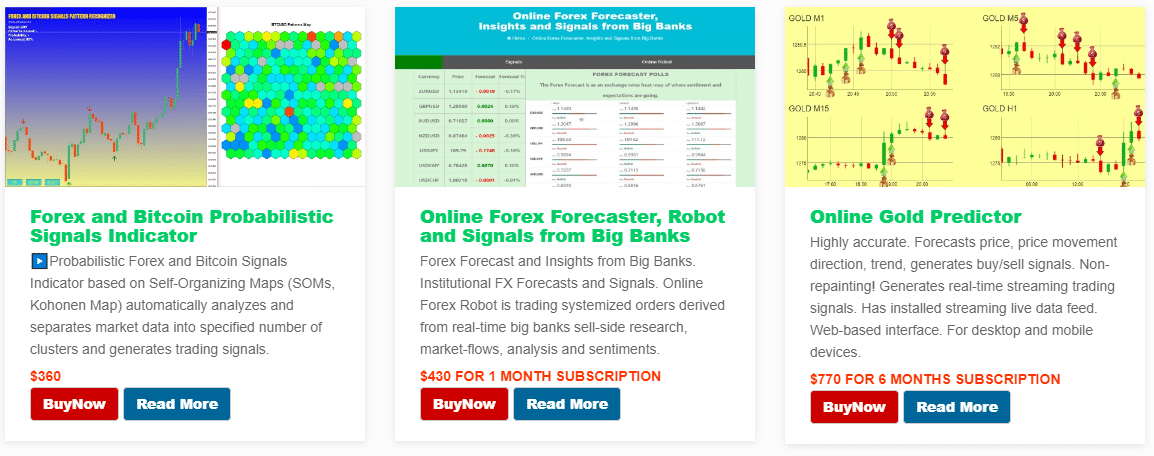 Altredo Forex Robots. The prices vary from $300 to up to $2000 for a lifetime copy.