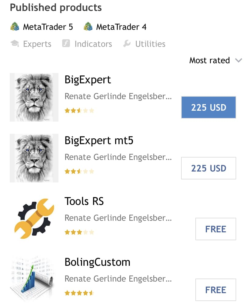 Big Expert. There are four products in the portfolio.