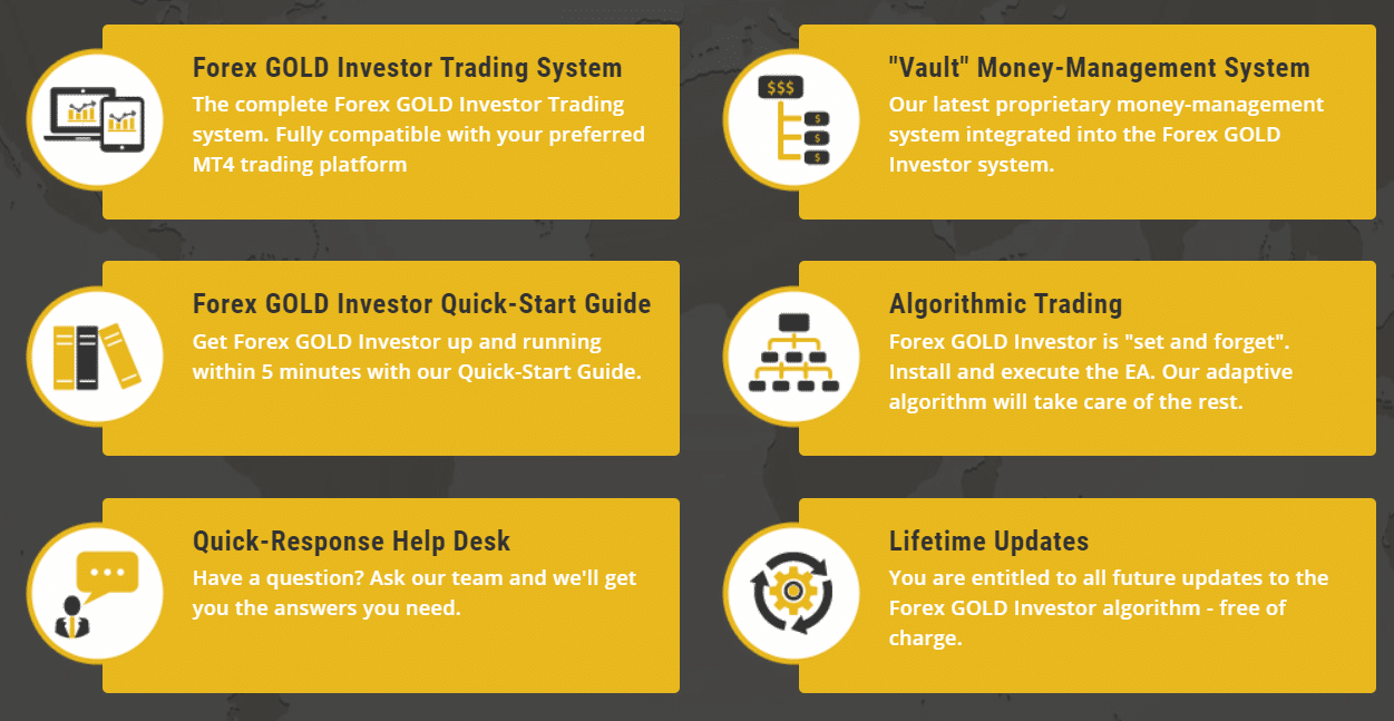 Forex Gold Investor Features