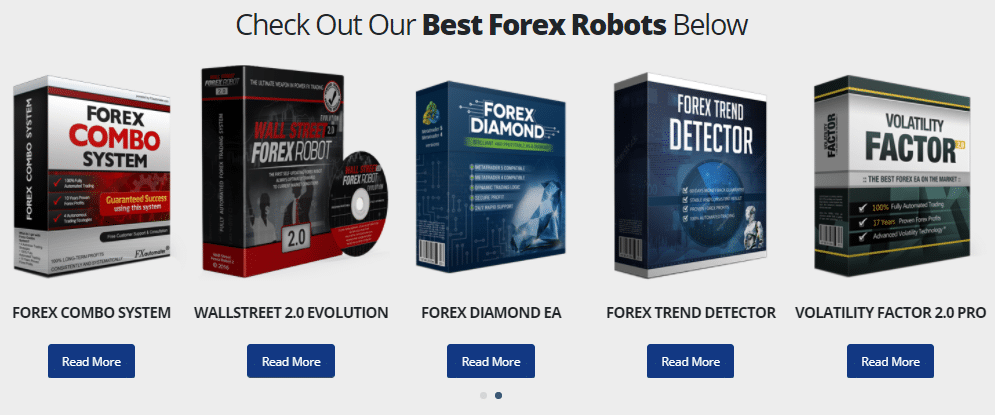 Smart Scalper Pro. The presentation includes honorable mentions about other well-known robots.