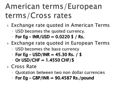 American vs. the European terms systems