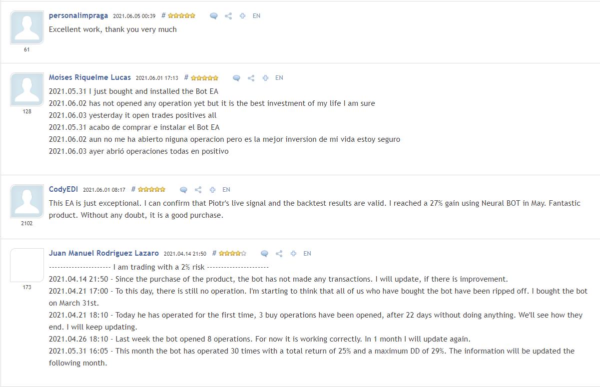 Neural Bot People feedback