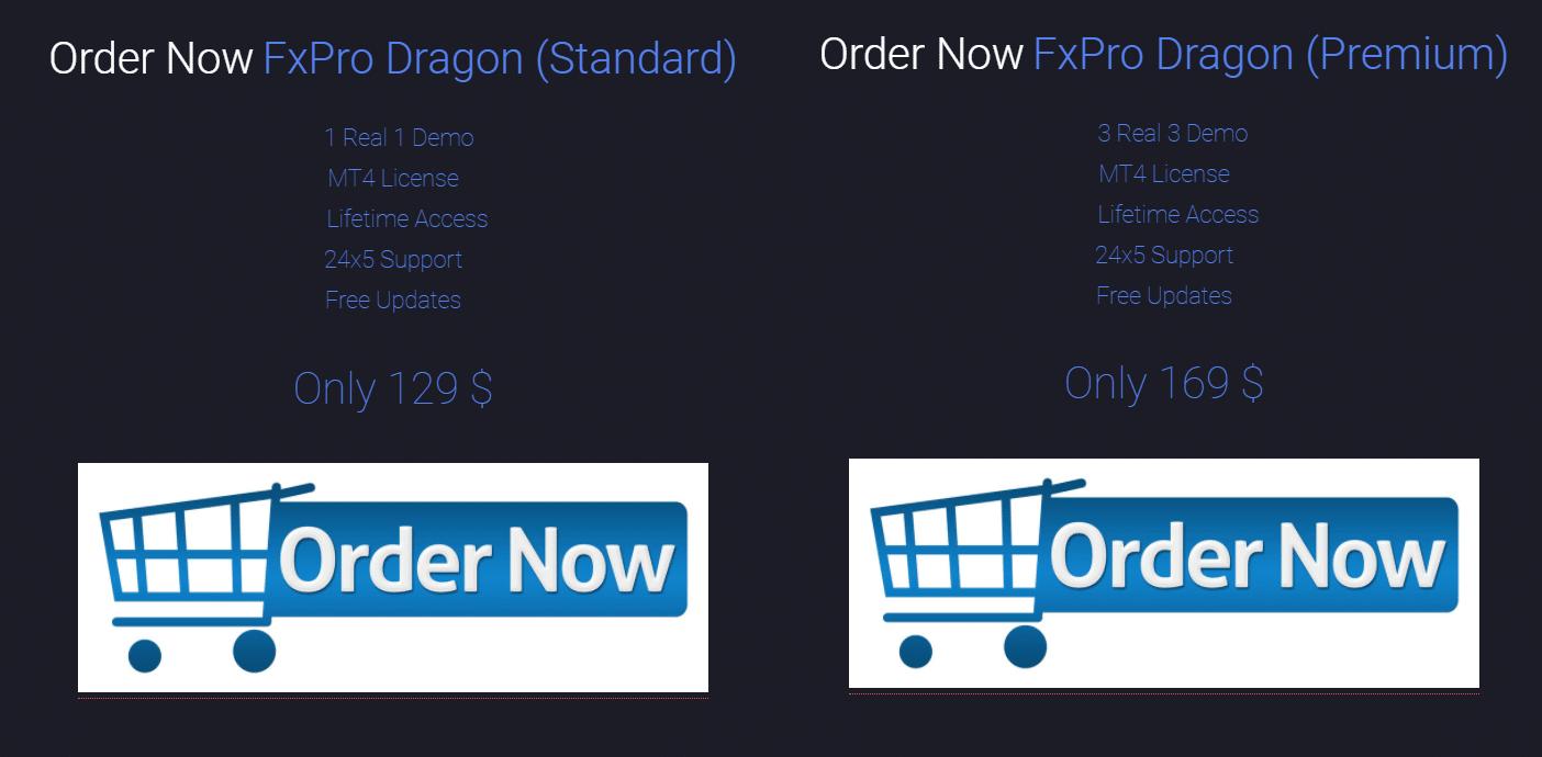 FXPro Dragon price