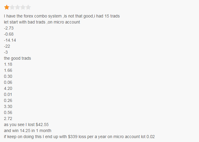 Forex Combo System Customer Reviews