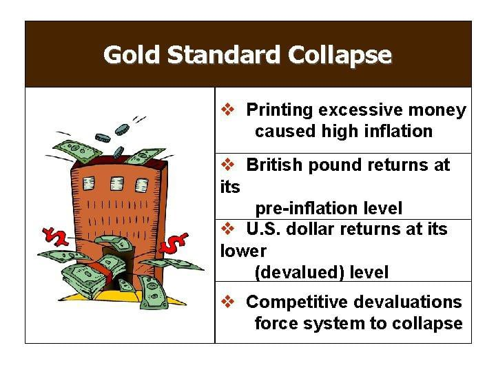 Gold standard collapse