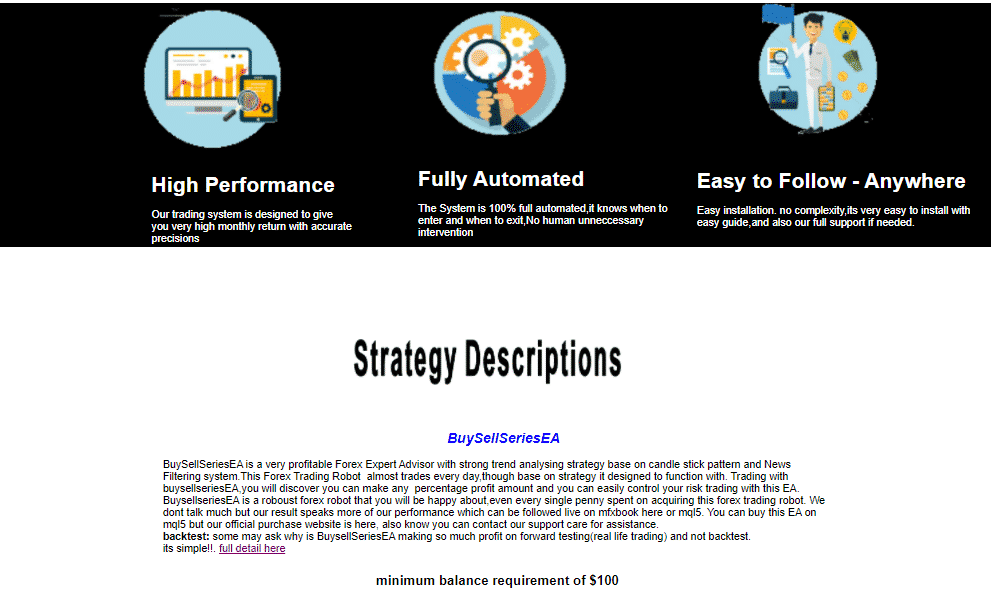 The features and strategy description of BuySellSeriesEA.