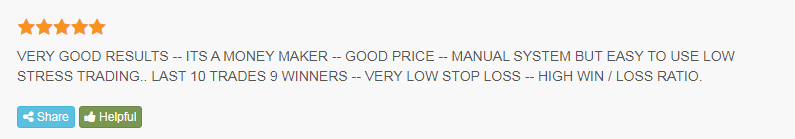Trader attests that the system has good results.