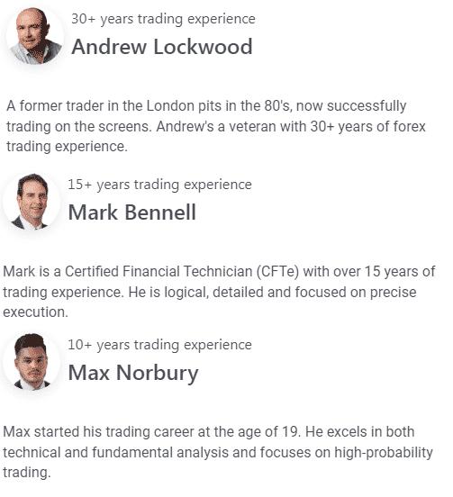 The mentors' profiles.